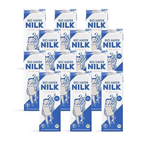 NILK Bio Haferdrink von mymuesli - 12 x 1 Liter - ohne Zuckerzusatz - 100% vegan