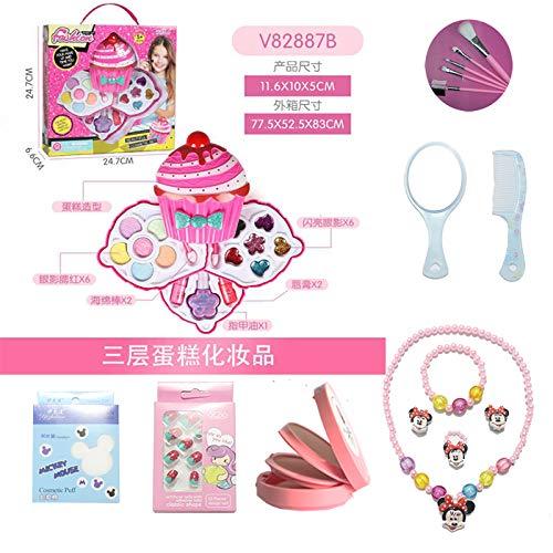 huayu EIS Kinder Kosmetik Set Lippenstift Ungiftig Prinzessin Make-up Box Kleine Mädchen Nagellack...