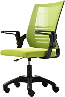 MJ-Office Chair Silla ergonómica de elevación Sillas de Escritorio Silla ejecutiva de Oficina Pies de Nylon con Brazos Ajustables Silla de Escritorio