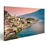 bilderfelix® Bild auf Leinwand Panorama von Limone sul