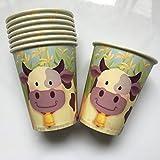 Unbekannt 8 Becher * LUSTIGE Kuh * für Kindergeburtstag oder Mottoparty // Cups Pappbecher...
