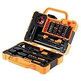 JAKEMY JAKEMY JM-8139 45 en 1 profesional precisa destornillador Set Kit de reparación de herramientas de apertura para teléfono móvil ordenador electrónico de mantenimiento