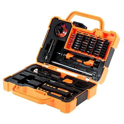KDLBO Destornillador Juego de Destornilladores de precisión de 45 en 1 Juego de reparación Herramientas de Apertura para el Mantenimiento electrónico de la computadora del teléfono Celular