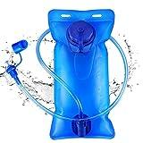 Bolsa de agua de 2L para hidratación, color azul, mochila de hidratación, para practicar deporte, senderismo, camping, escalada o diclismo