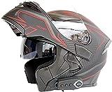 TYYCKJ Casco de Moto Modular con Bluetooth Integrado Cascos Modulares con Doble Visera para Motocicleta Scooter,ECE Homologado Casco Modular Moto Hombre Mujer Adultos