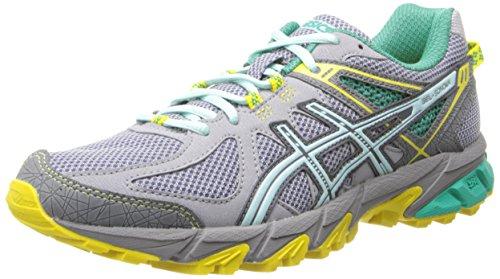 ASICS Gel-Sonoma Zapatillas de Correr para Mujer, Gris (Gris/Azul Hielo/Amarillo.), 36 EU