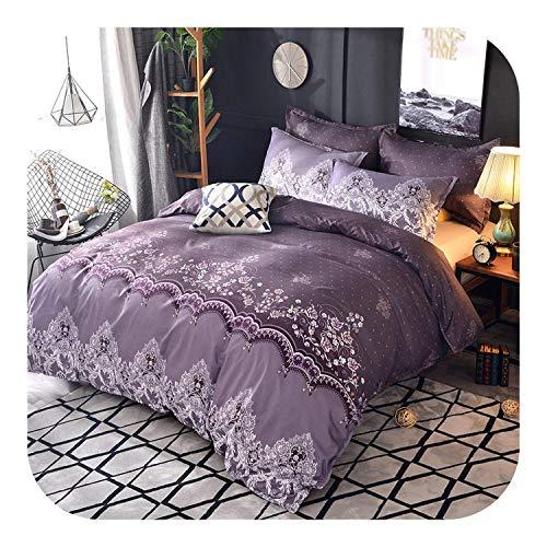 leaf-only Toddler Bed Sets, Flower Embroidered Comforter Bedding Set Queen King Duvet Cover Set Bed Set DA01#-cover 05-Queen210x210cm 3Pcs