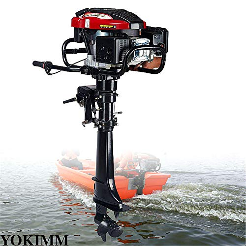 Motor fueraborda de 4 tiempos, 7 CV, 50 cm, lancha, lancha, lana, lancha de pesca, motor 196CC, sistema de refrigeración de aire, 50 cm, barco de pesca, motor para barco, bote hinchable y kayaks