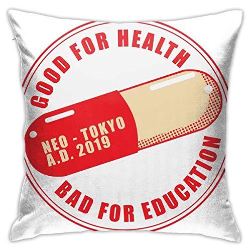 WH-CLA Couch Cushions The Capsules Akira Neo Tokyo Anime Sofá Duradero con Cremallera Fiesta Decorativa Acogedora Fundas De Almohada para El Hogar Sala De Estar Funda De Almohada Dormitor