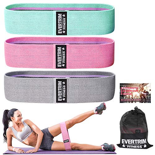 Exercise Booty Bands for Home Fitness Letsfit Resistance Bands for Legs and Butts Yoga Pilates Stretching and More Wide Anti Slip Hip Bands