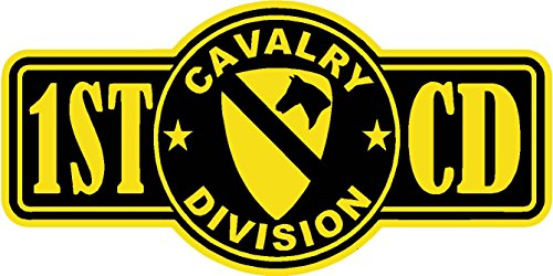 ExpressDecor 1st Cavalry Division 7x2.5 Size - Funny Stickers for constrution Hard hat pro Union Working Men Lunch Box Tool Box Symbol Window Motorcycle Biker car - Made and Shipped in USA