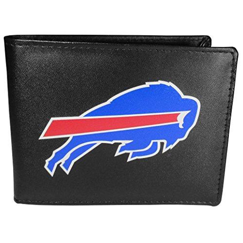 Siskiyou NFL Herren Bi-fold Geldbörse Large Logo, Herren, Buffalo Bills Bi-fold Geldbörse mit großem Logo, FBIL015, Schwarz , Einheitsgröße