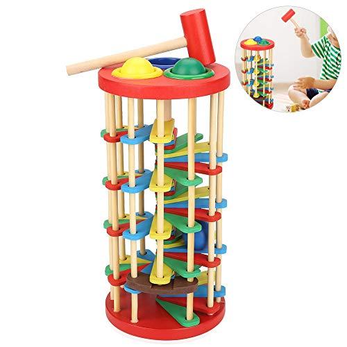 Stompt speelgoed kleurrijk houten slagbal ladder speelgoed Intelligent ontwikkeling scherpt kindervoorschoolgeschenk voor kleuterscholen