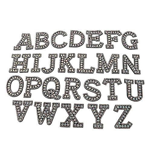 oshhni 26 Piezas de Parches de Letras, Coser en Parches de Apliques...