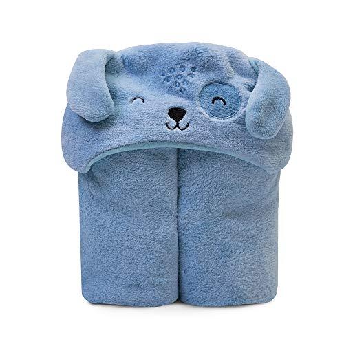 Cobertor de Microfibra Mami Bichus com Capuz, Papi, Azul, 1.10Mx85cm