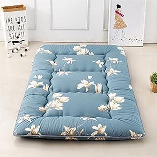 "Magnolia Flower Blue Futon Tatami Mat Japanese Futon Mattress Futons for Sale Idea Present for Kids, 150cm x 200cm (59.1"" x 78.7"")"
