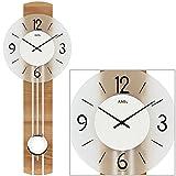 AMS Reloj de péndulo de Cuarzo, Madera, Multicolor, 63 x 32 x 18 cm