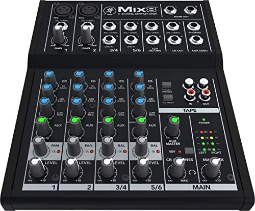 Mackie 25812 Mix8 8 Channel Compact DJ Mischer