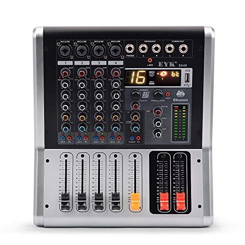 HM2 4 Kanäle Mischpult Mit Mute Und PFL Bluetooth Rekord 3 Band 16 DSP-Effekt Professional USB Audio Mixer