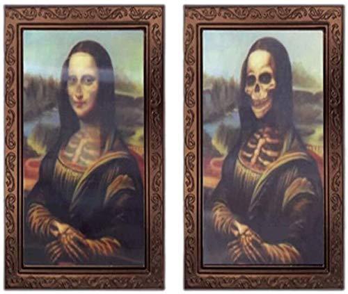 Alittle 3D wechselnden Gesicht beweglichen Bilderrahmen, Halloween Dekoration Horror Bilderrahmen für Horror Party Castle House Home Decoration-2PCS