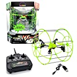 MUKIKIM Sky Runner - Quadcopter Aerocraft. Easy-To-Fly Technology For Indoor/Outdoor! 2.4 GHz Caged Drone that Runs Along Floors, Ceilings, Climbs Walls AND Flies Up to 100 ft Away!