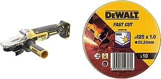 DEWALT DCG405FN-XJ DCG405FN Cordless XR Brushless Flathead Angle Grinder, 18 V, Yellow/Black, 125 mm & DT3507-QZ Lata con ...