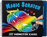 Depesche- Libro para Colorear Magic Scratch Monster Cars, Aprox. 22,5 x 17,8 x 1,8 cm, Multicolor (10928)