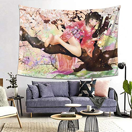 Isabelle & Emilie Tapestry Anime Poster Tapestry Wall for Hanging Tapestries Bedroom and White Black Mandala World Map