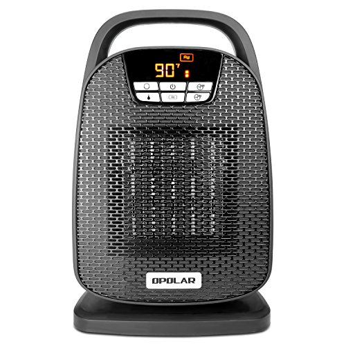 Learn More About OPOLAR Ceramic Space Heater, Indoor Oscillating Digital Personal Heater, Over-Heat and Tilt Protection, Carrying Handle, 1500/750 Watt, Shut Off and Turn on Timer, Quiet Operation for Home, Office
