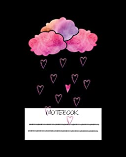 NoteBook: Rain Heart Rain Drops Notebook for Kids. Girls. Boys and Adults Perfect for doodle and writing Notes - Winter Ra...
