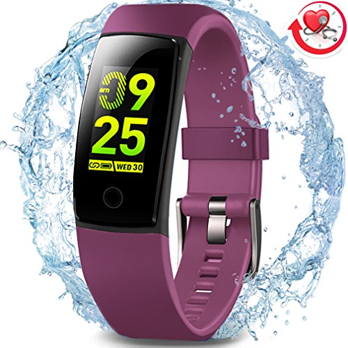 MorePro Waterproof Health Tracker, Fitness Tracker Color Screen Sport Smart Watch,Activity Tracker with Heart Rate Blood Pressure Calories Pedometer Sleep Monitor Call/SMS Remind for Smartphones Gift