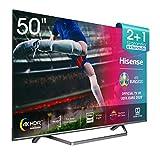 Hisense H50U7BE - Smart TV ULED 50' 4K Ultra HD con Alexa Integrada, Bluetooth, Dolby Vision HDR, HDR 10+, Audio Dolby Atmos, Ultra Dimming, Smart TV VIDAA U 3.0 IA, mando con micrófono
