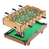 YLJYJ Mesa de futbolín, Mesa de Juego combinada 2 en 1 Juego de Mesa de Billar/fútbol multijugador Adecuado para Adultos y niños (Juegos de Escritorio)