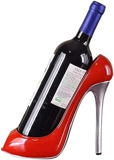 NOMIMAS Resin Bottle Holder High Heel Shoe Shaped Wine Bottle Rack Stylish Wine Shelf Wedding Party Gift