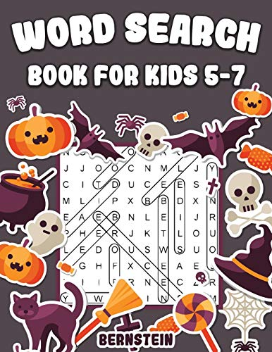 Word Search for Kids 5-7: 200 Fun Word Search Puzzles for Kids with Solutions - Large Print - Halloween Edition