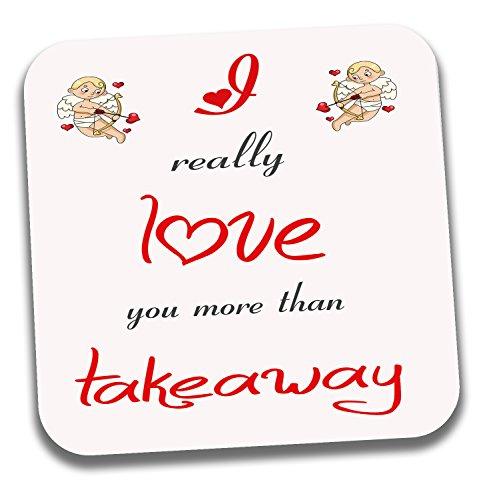 I Love pour plats sur le thème Thé café Coaster – Saint-Valentin/anniversaire/cadeau d'anniversaire pour elle ou Lui
