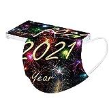 Gugavivid 10 Piezas Adultos 2021 Año Nuevo Multicolor Desechable 𝐌𝐚𝐬𝐜𝐚𝐫𝐢𝐥𝐥𝐚𝐬, Tres Capsa Moda Impresa Cartas