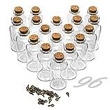ARTESTAR 96 Piezas 25ml Botes Cristal PequeñOs Tapones De Corcho, Frascos De Cristal con Tapa,Mini Botellas Cristal PequeñAs