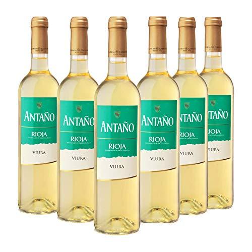Antaño Viura - Vino Blanco D.O. Rioja - Caja de 6 Botellas x 750 ml