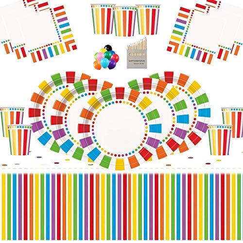 Bleu Brillant Joyeux 25th Anniversaire Vintage Pois Thème Bunting Bannière Fête