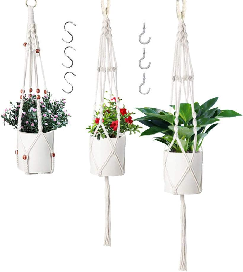 GUIFIER Japan's largest assortment Macrame Plant Hangers with 6 5 popular 3 In Hooks Pack Different