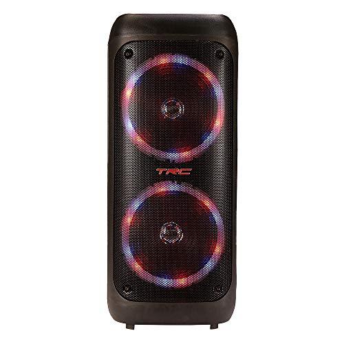 Caixa de Som Amplificada Portátil TRC 5540 com Bluetooth, Controle Remoto, Entrada USB, Iluminação em Led, Microfone com Fio e TWS – 400W RMS, Black