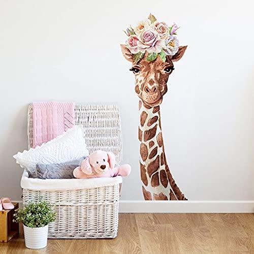 Pegatinas de pared de dibujos animados, decoración del hogar, sala de estar, vinilo artístico, papel tapiz de animales extraíble