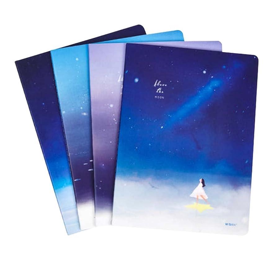 4個の日記ノートブッククラシックノートブックジャーナルソフトカバーノートブック学生ラボノートブック