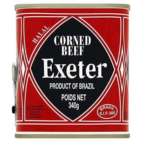 Exeter Halal Carne En Lata (340g) (Paquete de 6)
