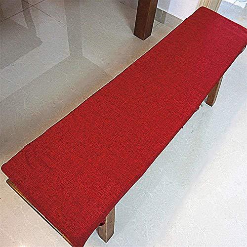 YWTT Cojines Largos y Transpirables para mecedoras, cojín de Banco Columpio Relleno, Esponja para Interiores y Exteriores, Cojines para sillas de Patio rellenas, Vino Tinto, 30x160 cm (12x63 pulg