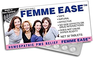 Miers Labs Women's Femme Ease Homeopathic Remedy + PMS Relief Pills for Period Cramps, Bloating, Headache, and Fatigue, 32...