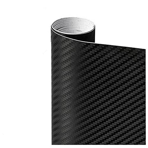 Pegatina de película de rollo de papel de envoltura de automóviles Pegatina de coches Multi Color Sticker 3D Fibra de carbono Vinyl Multi tamaño Autoadhesivo (Color Name : Black)