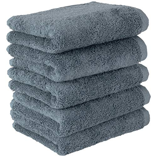 Towel Laboratory [Volume Rich] #003 Face Towels, Smoky Blue, 5 Piece Set, Fluffy, Hotel Specifications, Fast Absorption, Durable, Popular, 5 Colors to Choose from Japan Technology