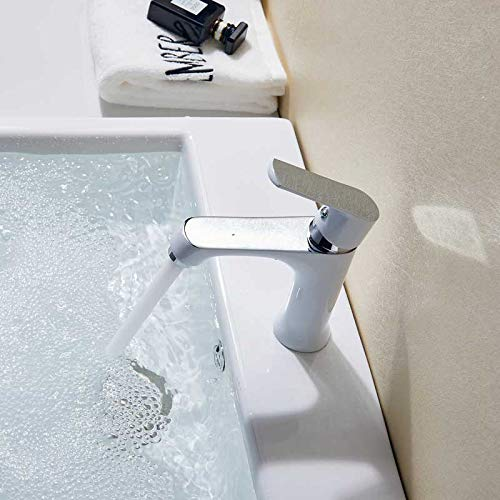 Grifo de lavabo verde de una sola palanca, agua fría caliente, mezclador de baño, grifo de lavabo naranja, grifo de fregadero, grifo de baño montado en la cubierta